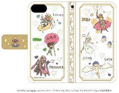 手帳型スマホケース(iPhone6/6s/7兼用)「KING OF PRISM -PRIDE the HERO-」03/ホワイト(グラフアートデザイン)