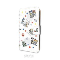 手帳型スマホケース(iPhone6/6s/7/8兼用)「ポプテピピック」01/いっぱいポプ子&ピピ美01(グラフアートデザイン)