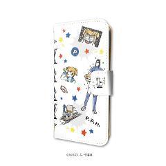 手帳型スマホケース(iPhone6/6s/7/8兼用)「ポプテピピック」02/いっぱいポプ子&ピピ美02(グラフアートデザイン)