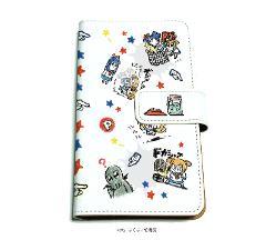 手帳型マルチケース「ポプテピピック」01/いっぱいポプ子&ピピ美01(グラフアートデザイン)