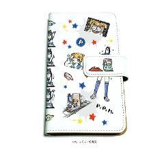 手帳型マルチケース「ポプテピピック」02/いっぱいポプ子&ピピ美02(グラフアートデザイン)