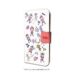 手帳型スマホケース(iPhone6/6s/7/8兼用)「ウル松さん」01/ちりばめデザイン(グラフアートデザイン)