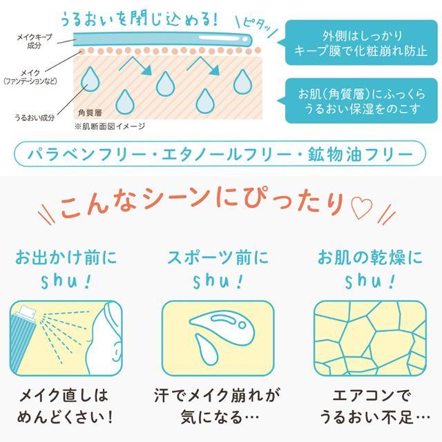shushupa!(シュシュパ)メイクキープスプレー<仕上げ用化粧水>の商品画像