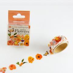 yano design - 型抜きマスキングテープ series Flowers for collage / orangeの商品サムネイル