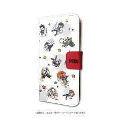 手帳型スマホケース(iPhone6/6s/7/8兼用)「僕のヒーローアカデミア」01/雄英生&先生(グラフアートデザイン)