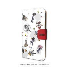 手帳型スマホケース(iPhone6/6s/7/8兼用)「僕のヒーローアカデミア」02/雄英生&先生&敵連合(グラフアートデザイン)
