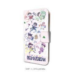 手帳型スマホケース(iPhone6/6s/7/8兼用)「おそ松さん」07/六つ子 場面写Ver.(グラフアート)