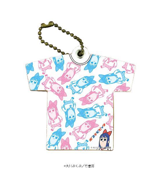 キャラレザーチャーム「ポプテピピック」02/ピピ美(Tシャツ)の商品画像