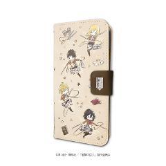 手帳型スマホケース(iPhone6/6s/7/8兼用)「進撃の巨人 Season 3」01/調査兵団(グラフアート)