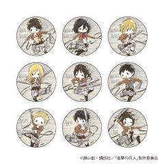 【BOX】缶バッジ「進撃の巨人 Season 3」(全9種)(グラフアート)
