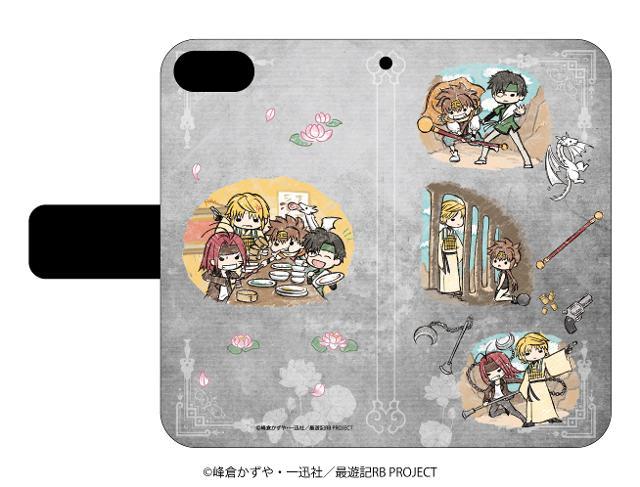 手帳型スマホケース(iPhone6/6s/7/8兼用)「最遊記RELOAD BLAST」03/グレー 場面写ver.(グラフアート)の商品画像