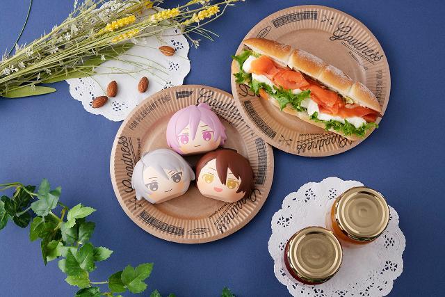 【2個】ふかふかスクイーズパン アイドリッシュセブン TRIGGER&Re:vale BOXの商品画像