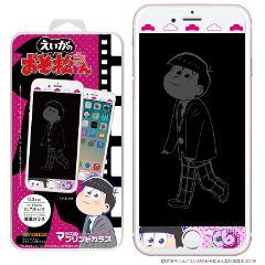 えいがのおそ松さん マジカルプリントガラス iPhone8/7/6S/6 06 トド松の商品サムネイル
