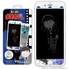 えいがのおそ松さん マジカルプリントガラス iPhone8/7/6S/6 02 カラ松