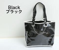 【痛バッグ】チェーン付き バッグinビニール カスタマイズバッグ ブラックの商品サムネイル